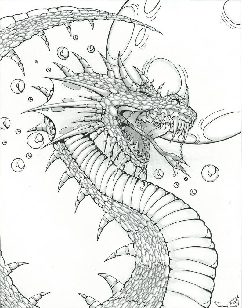 Dragon Design For Fantasy Art By Icgreen Dragon Coloring Page