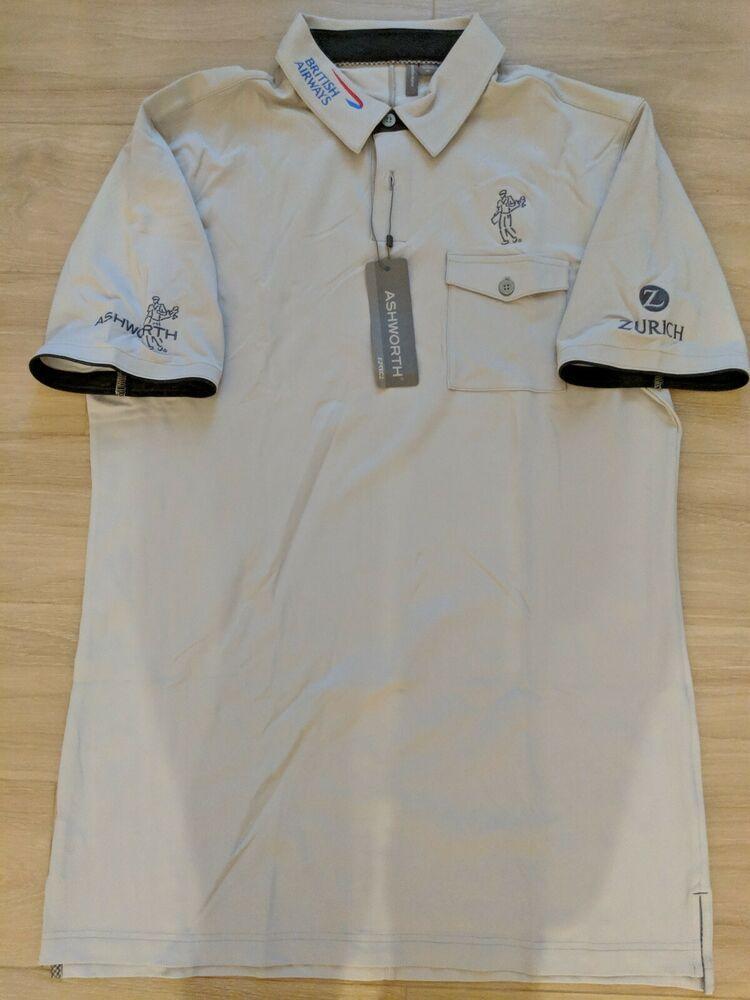 1bd68c10 Justin Rose PGA Tour Issue Golf Polo Shirt Ashworth MasterCard Logo Sz M  #fashion #
