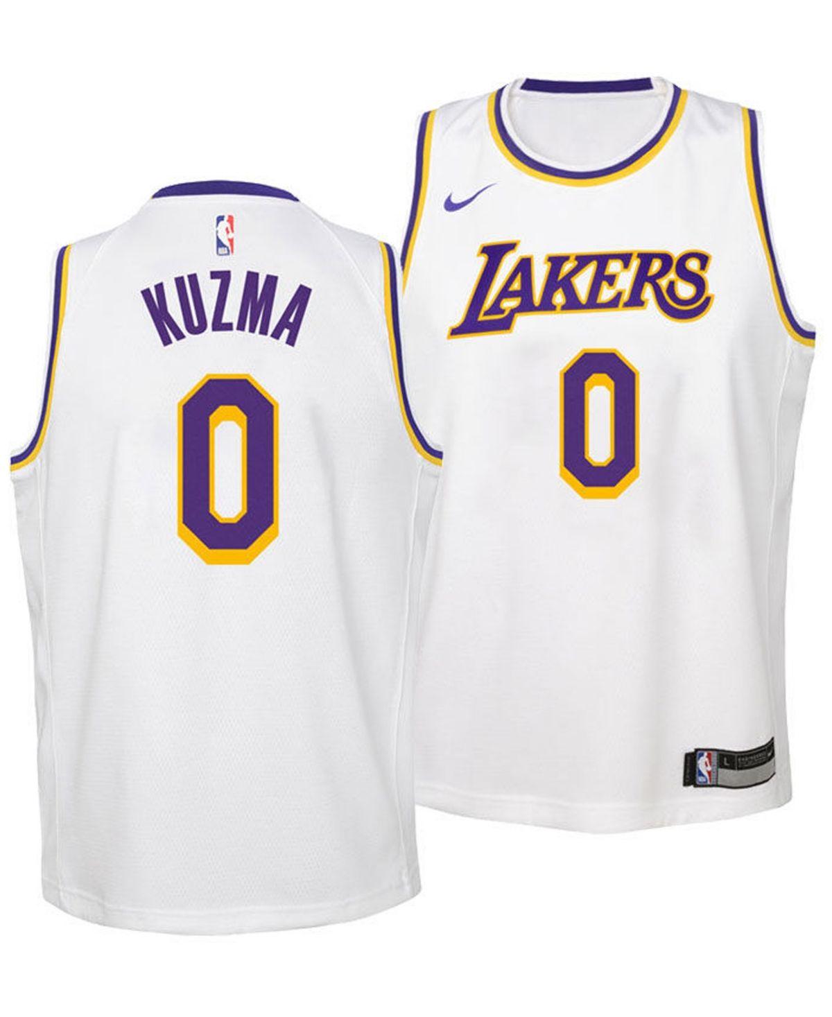 Nike Kyle Kuzma Los Angeles Lakers Association Swingman Jersey Big Boys 8 20 Reviews All Kids Sports Fan Shop Macy S Los Angeles Lakers Kyle Kuzma Jersey