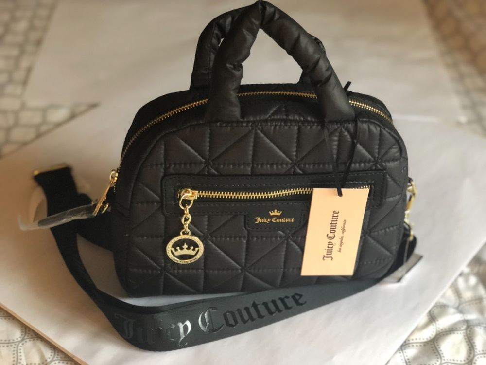 17ed3f906b NWT Juicy Couture Crown Jewel MINI Quilted Black Crossbody Bag  fashion   clothing  shoes