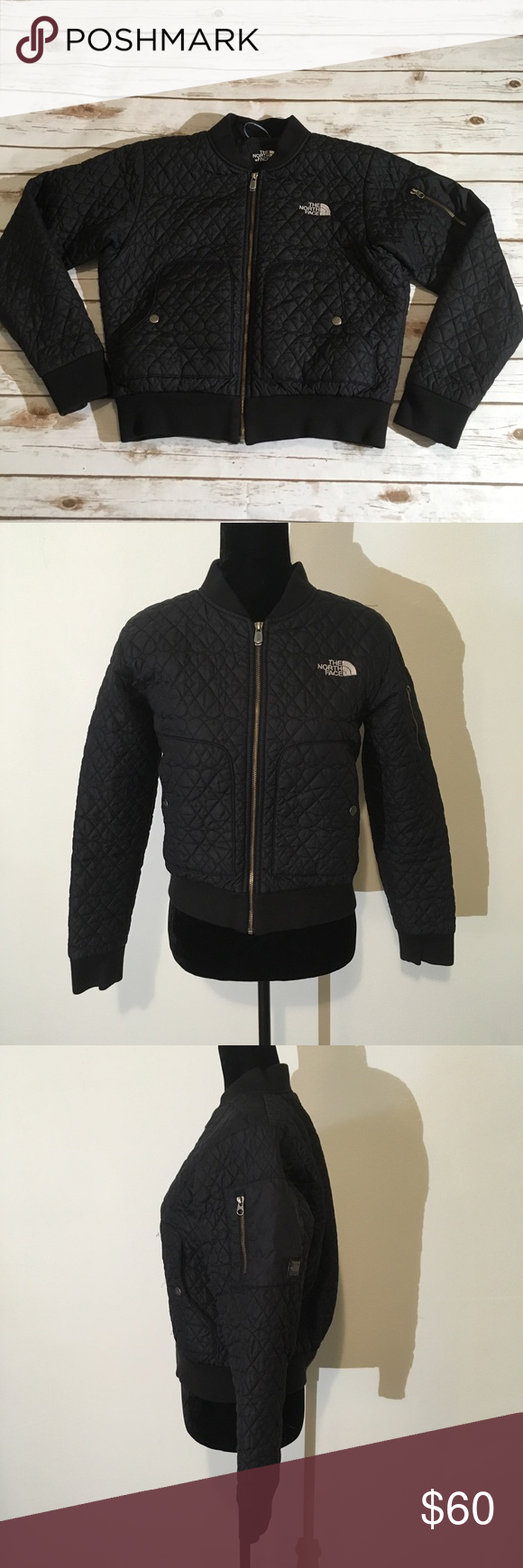 The North Face Black Quilted Bomber Jacket Black North Face Quilted Bomber Jacket Jackets [ 1740 x 580 Pixel ]
