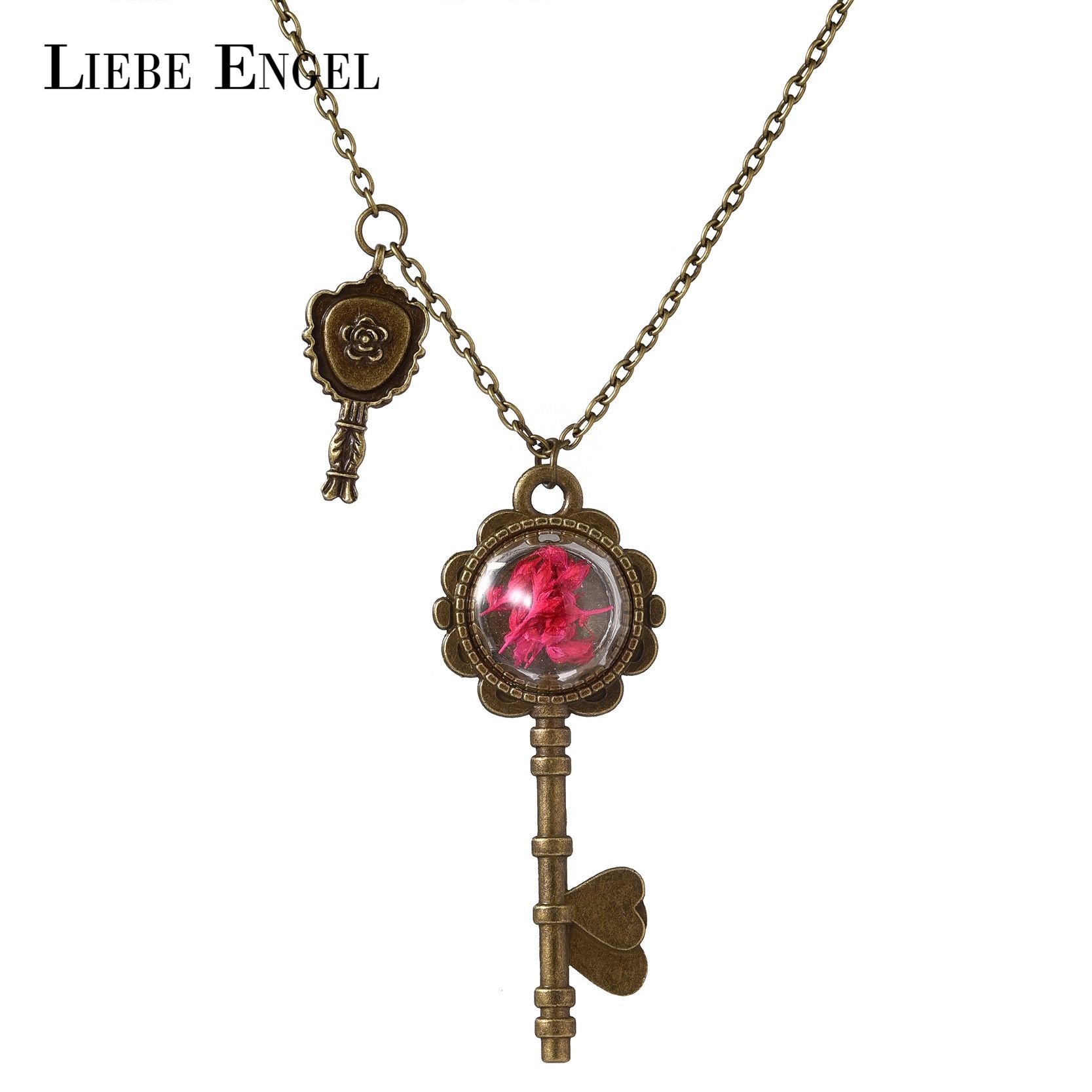 Find More Pendant Necklaces Information about LIEBE ENGEL Fashion Dried Flower Key Shape Necklace & Pendant Vintage Long Sweater Chain Jewelry Glass Statement Necklace Women,High Quality jewelry shamballa,China jewelry cream Suppliers, Cheap jewelry chains by the inch from LIEBE ENGEL Official Store on Aliexpress.com