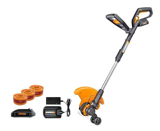 Worx Gt 2 0 >> Details about WORX WG921 20V PowerShare Grass Trimmer / Edger & Leaf Blower with (2) Batteries ...