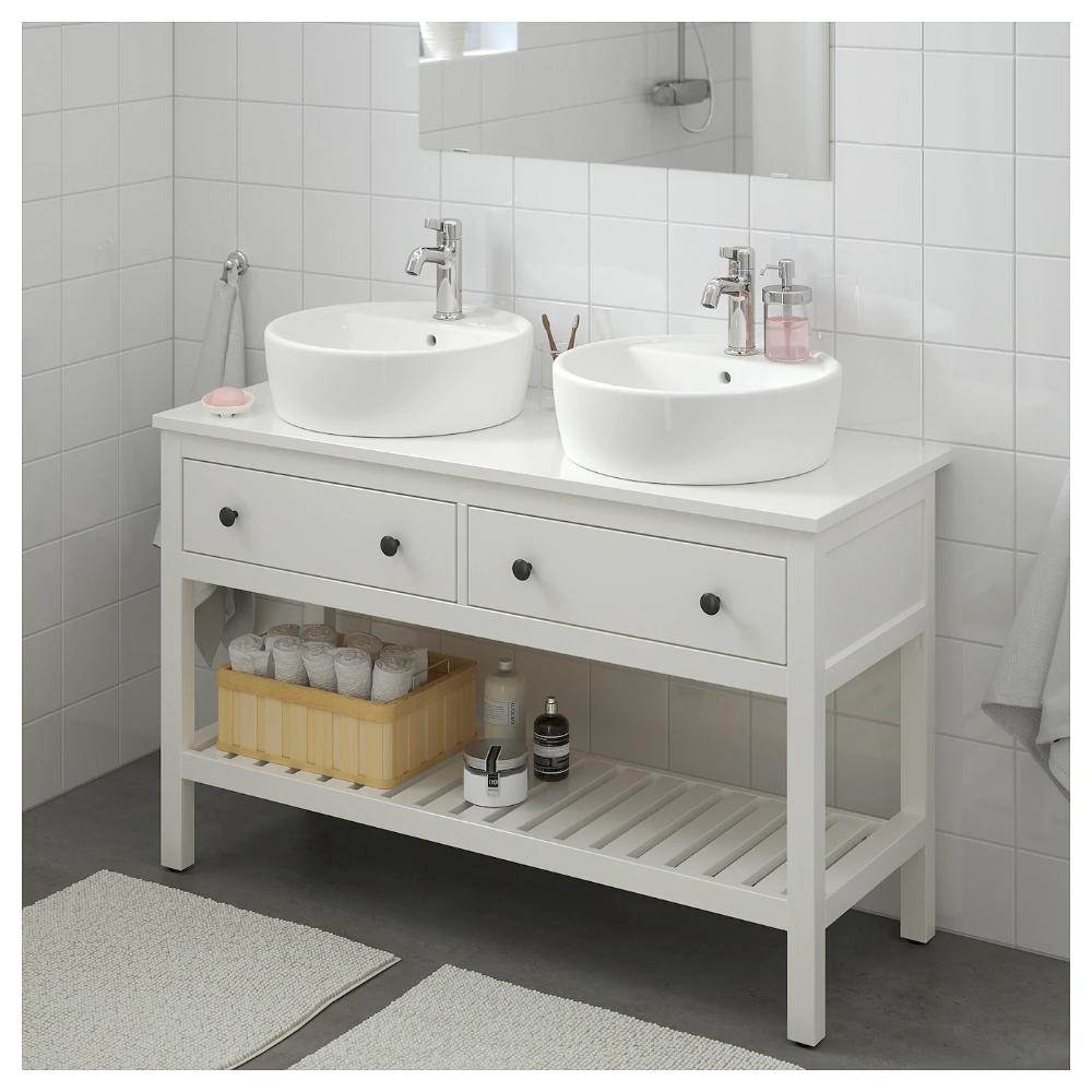 Hemnes Waschbeckenschrank Offen 2 Schubl Weiss Ikea Deutschland Waschbeckenschrank Ikea Badezimmer Badezimmer Klein