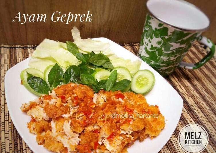 Resep Ayam Geprek Simple Oleh Melz Kitchen Resep Resep Ayam Masakan Resep