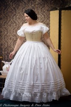 midvictorian petticoat  kleider