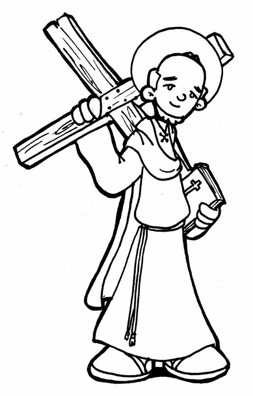 saint andrew coloring pages