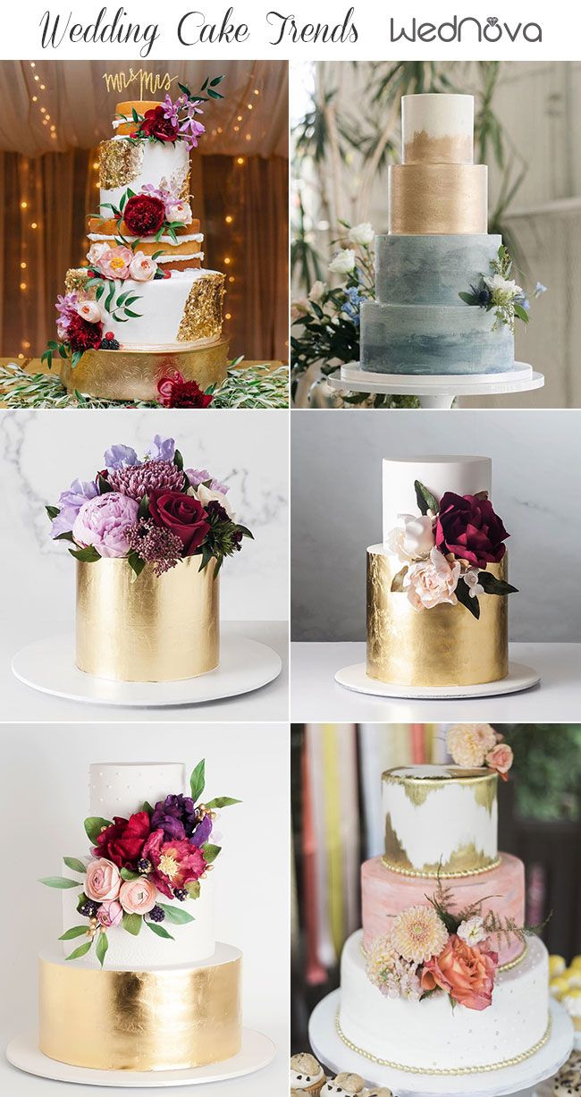 2019 Wedding Cake Trends to Inspire Your Big Day in 2020