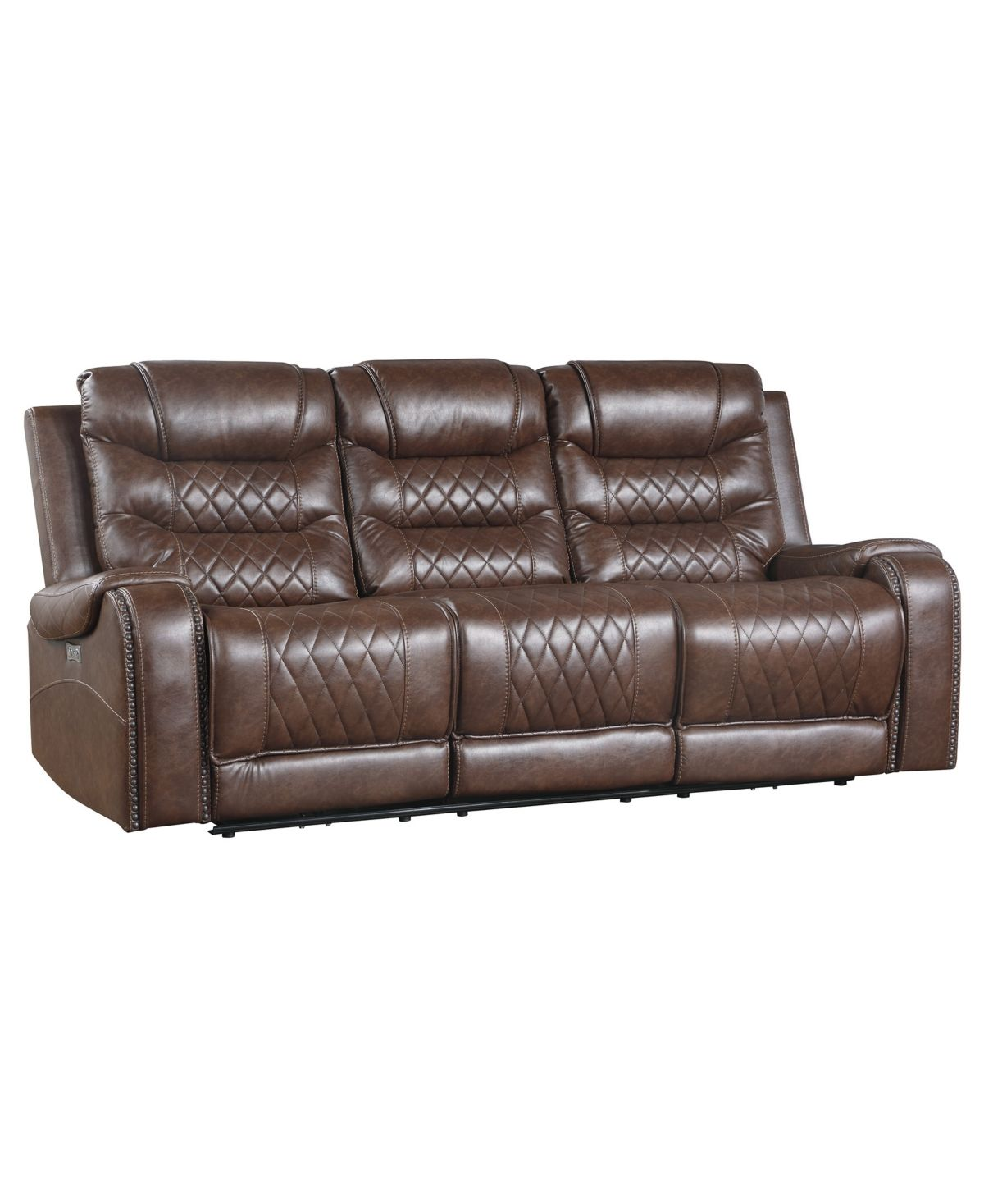 Bailey Power Recliner Sofa Brown In 2020 Reclining Sofa Sofa