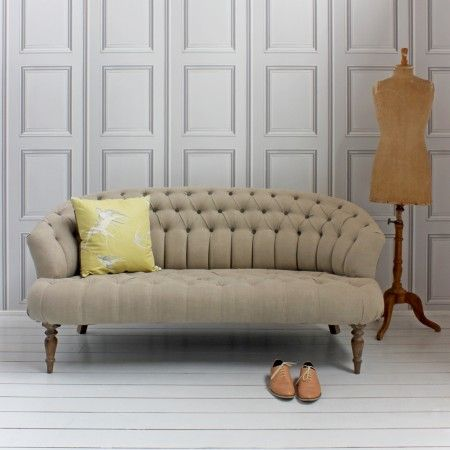The Jester Sofa in Natural Linen
