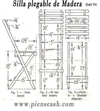 C mo hacer una silla plegable de madera sin ser carpintero for Silla escalera plegable planos