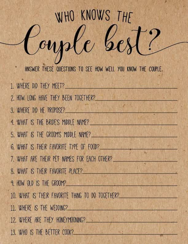 Would She Rather Bridal Shower Game, Printable Wed