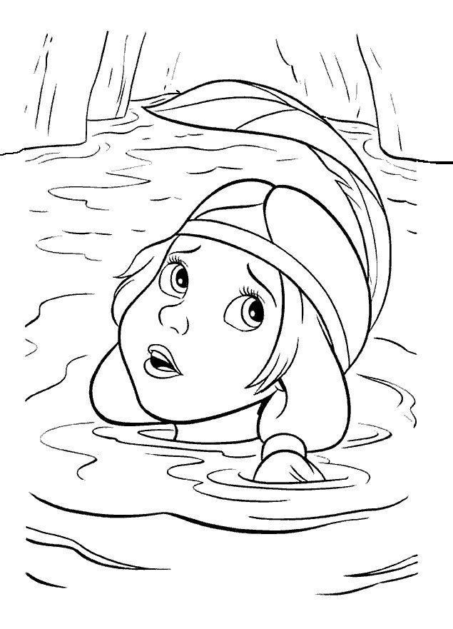 Fargelegging Peter Pan. Tegninger 5