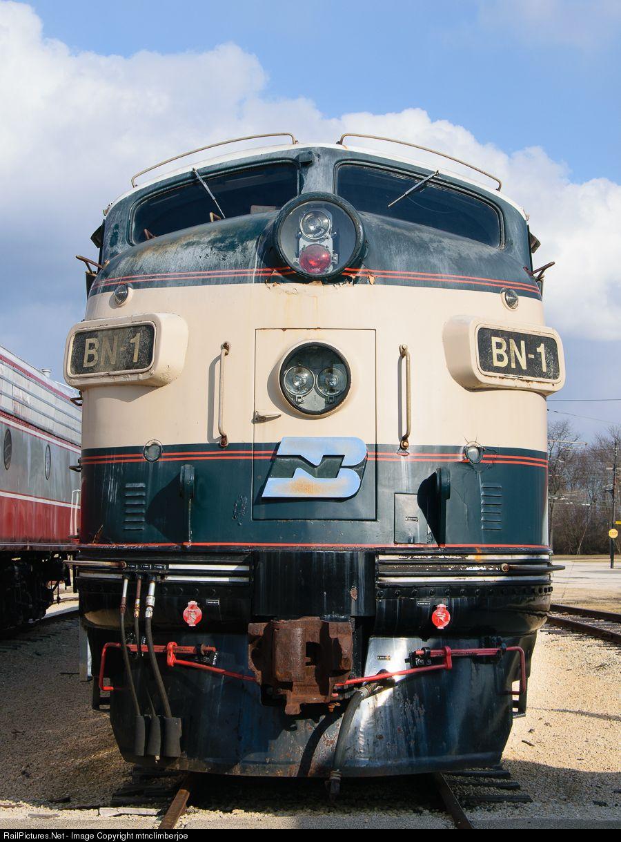 Bn1 burlington northern railroad emd f9a at union