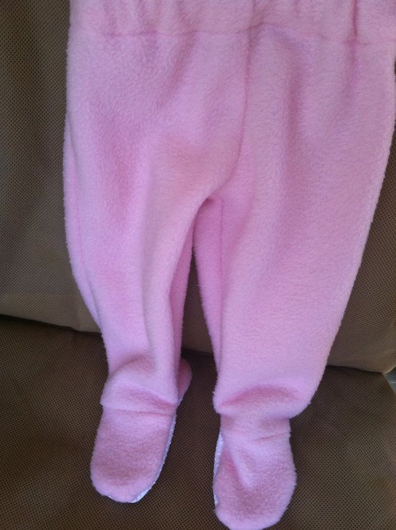 4a107ac2634b Footed Pajama Pants Pink Fleece 0-3M Infant Footie