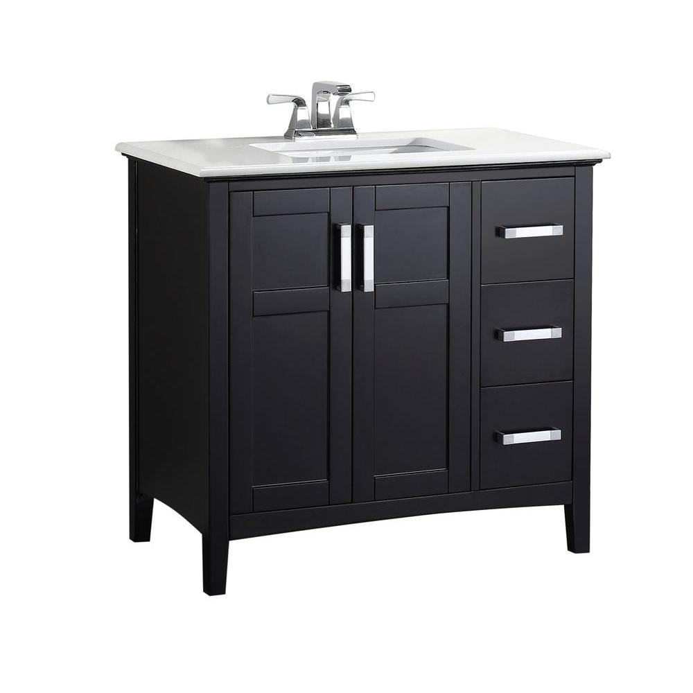 Pin On Bathroom 36 black bathroom vanity