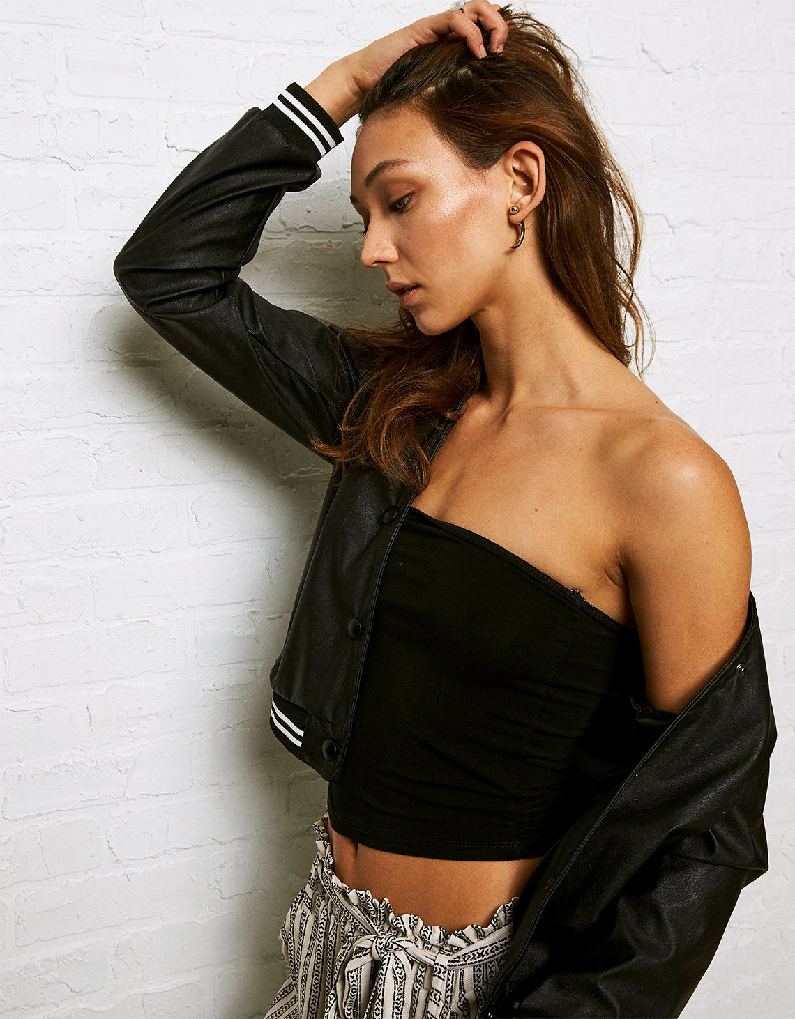 ee2104dfae DON T ASK WHY TUBE TOP Color  Black Size  O S