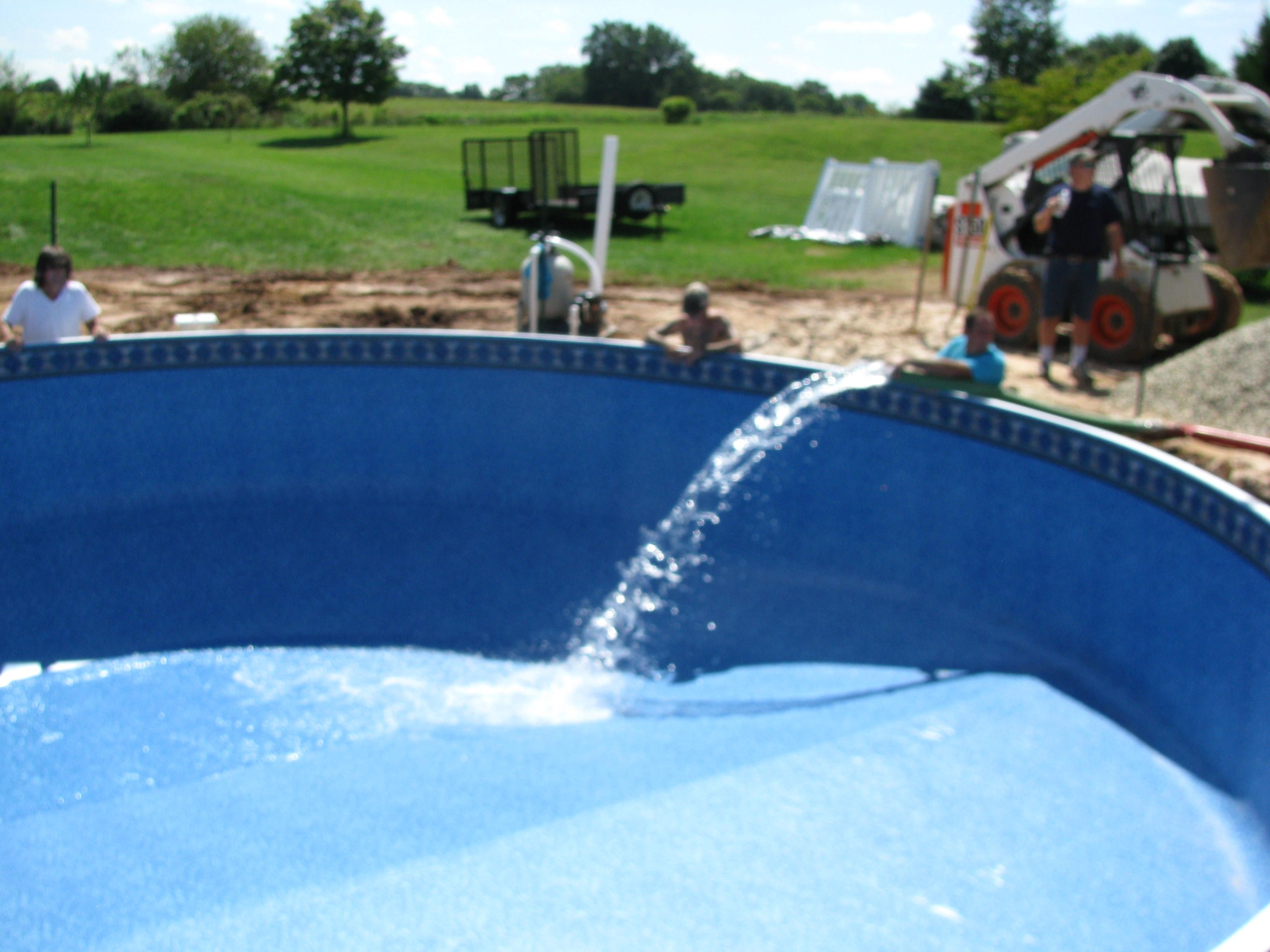Filling the Radiant Pool | Pool kits, In ground pools ...