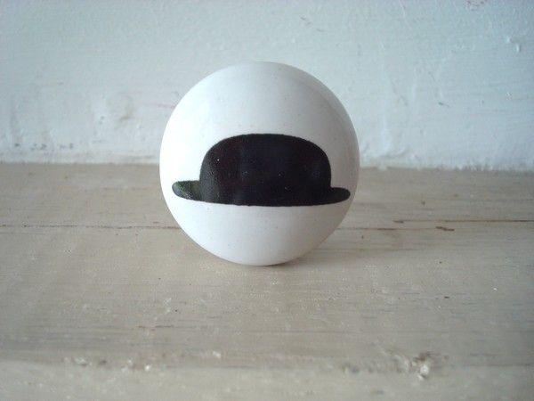 Bouton de porcelaine au chapeau melon  3,75 \u20ac Boutons de porte