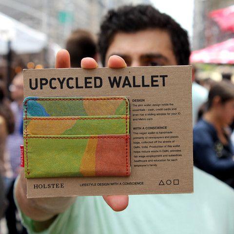 The Upcycled Wallet - Delhi Rang