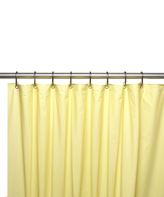 Carnation Home Fashions Yellow 8 Gauge Shower Curtain Liner