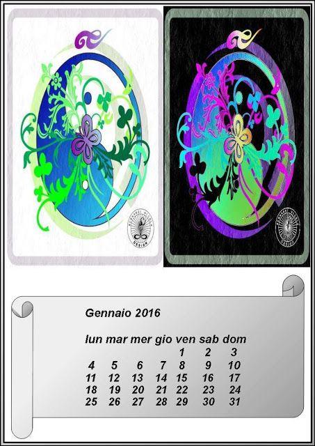 Calendari artistici : Calendario 2016