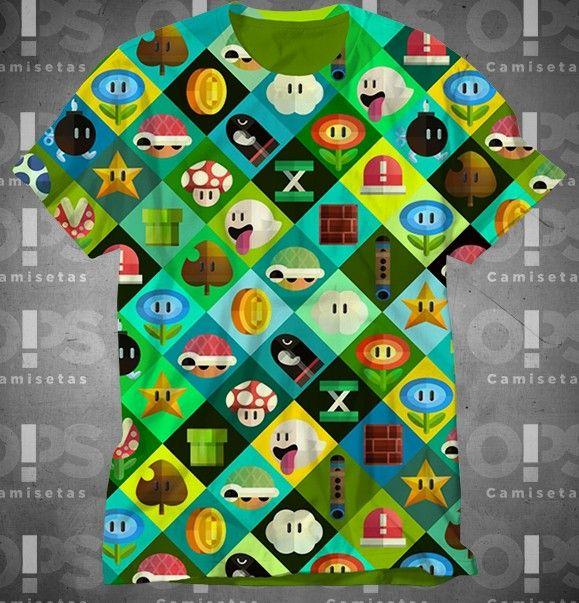 Camiseta Super Mario Bros Powers