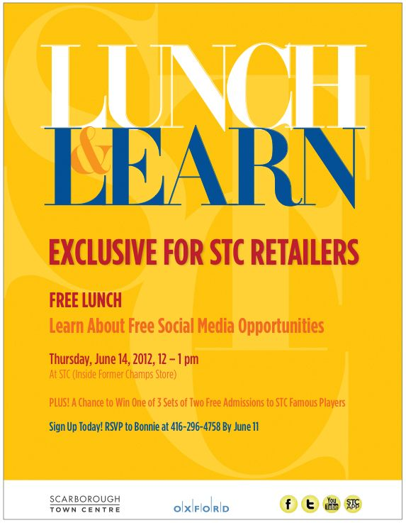 """STC Offers """"Free Lunch And Learn"""" Sessions For Our"""
