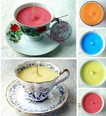 Teacup, candles