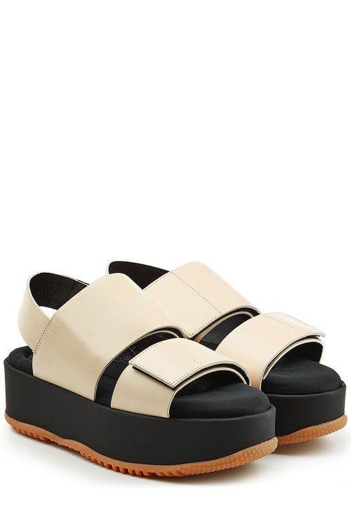 72177fb180c Marni - Leather Platform Sandals