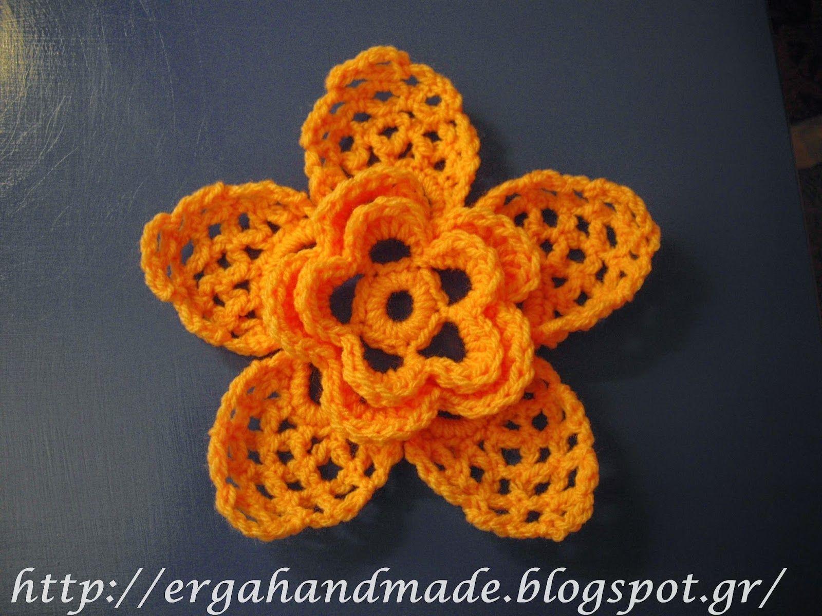 ergahandmade | Kwiaty | Pinterest | Flores ganchillo, Hoja y Ganchillo