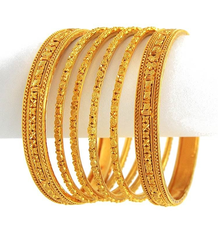 Pakistani gold bangles | Pakistani bridal collection | Pinterest ...
