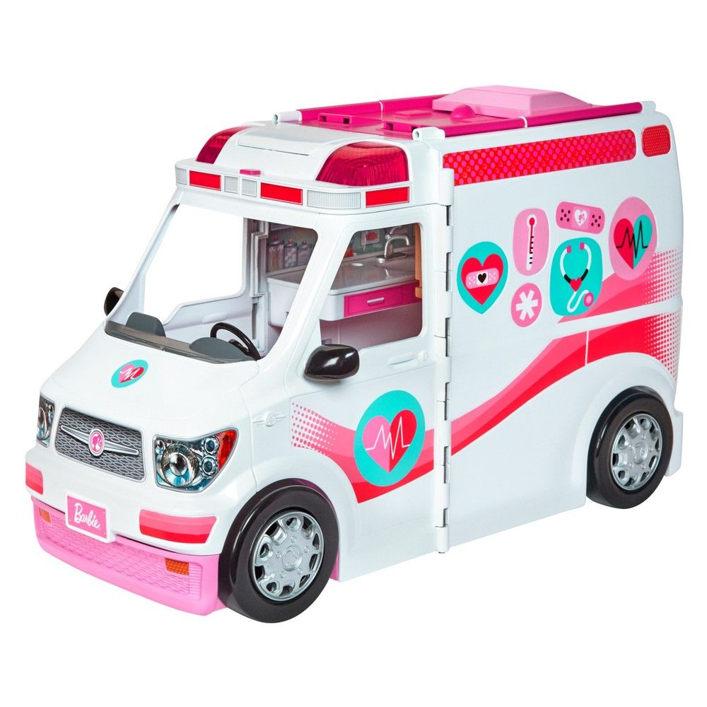 Barbie Doll Care Clinic Ambulance Vehicle Dolls Playset Toy Girl Gift