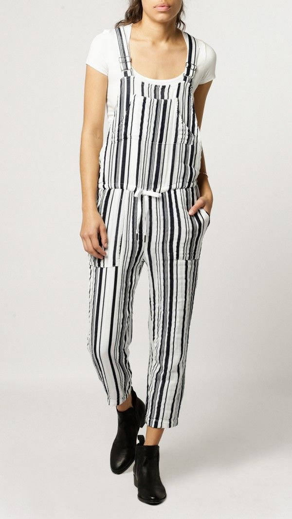 65f238e4b28 Stateside - Vertical Stripe Veil Jumpsuit