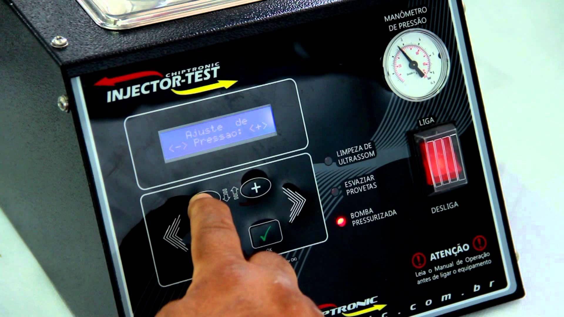 Máquina de limpeza de bicos injetores - Injector-test
