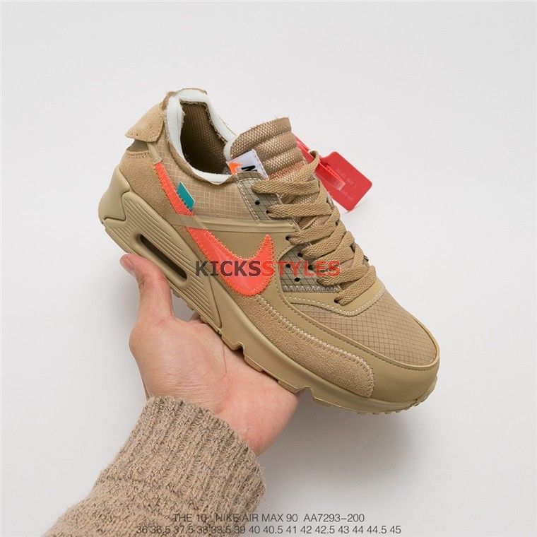 newest cbcc8 74e5e Off-White x Nike Air Max 90 Desert Ore AA7293-200