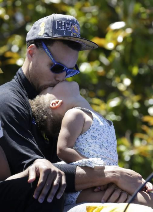 Stephen curry & riley curry