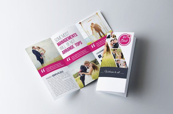 wedding program trifold brochure by business flyers on creativemarket brochure design templates 3 fold brochure