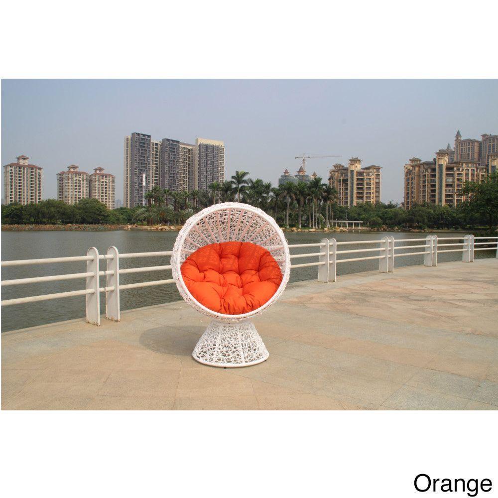 Fine Mod Imports Contemporary Aluminum Cabana Chair (Cabana Chair Orange), Size Single, Patio Furniture