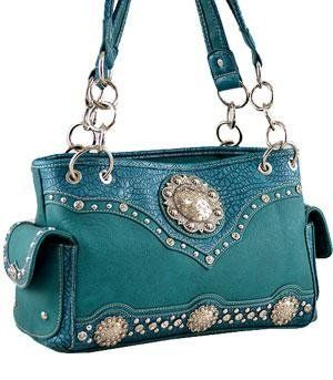 Montana West handbag Concho Croc Print Shoulder Bag Purse ...