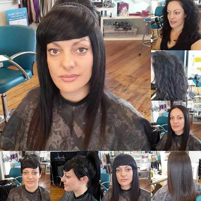 Corrine Banging Our Clipin Synthetic Bangs And Side Swept