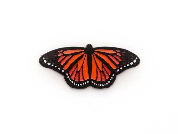 e23cf75219df0 Butterfly Enamel Pin / Monarch Butterfly Lapel Pin / Butterfly pin ...