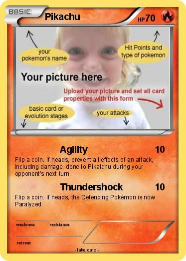 Free pokemon card template Pokemon Birthday Party Ideas