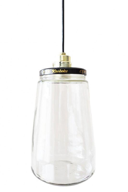 DIY pakket Glazen Pot Lamp leuk om te vullen met HERFST materiaal ! via @djellomaureen