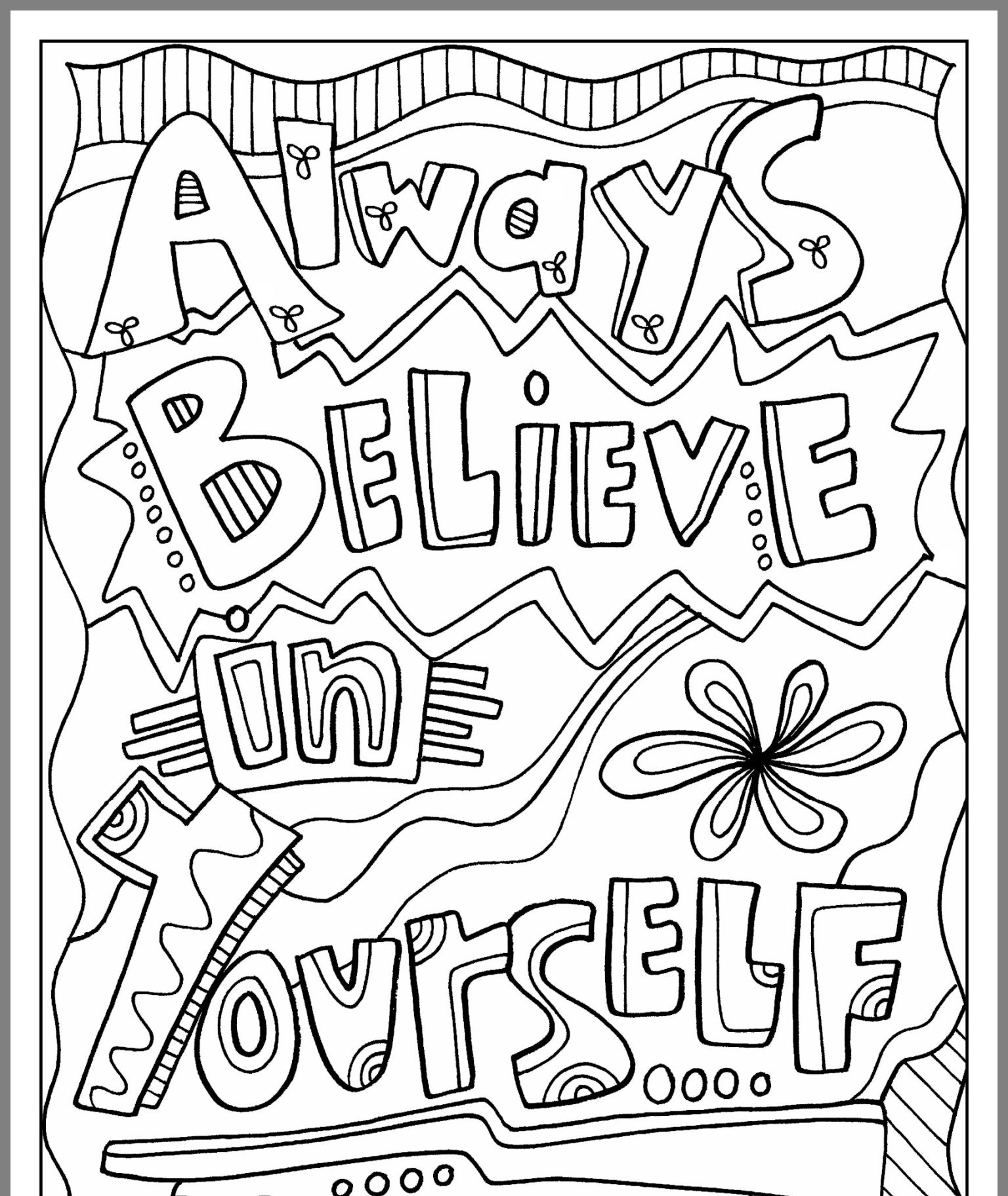 Pin by Lauren on Coloring pages Quote coloring pages