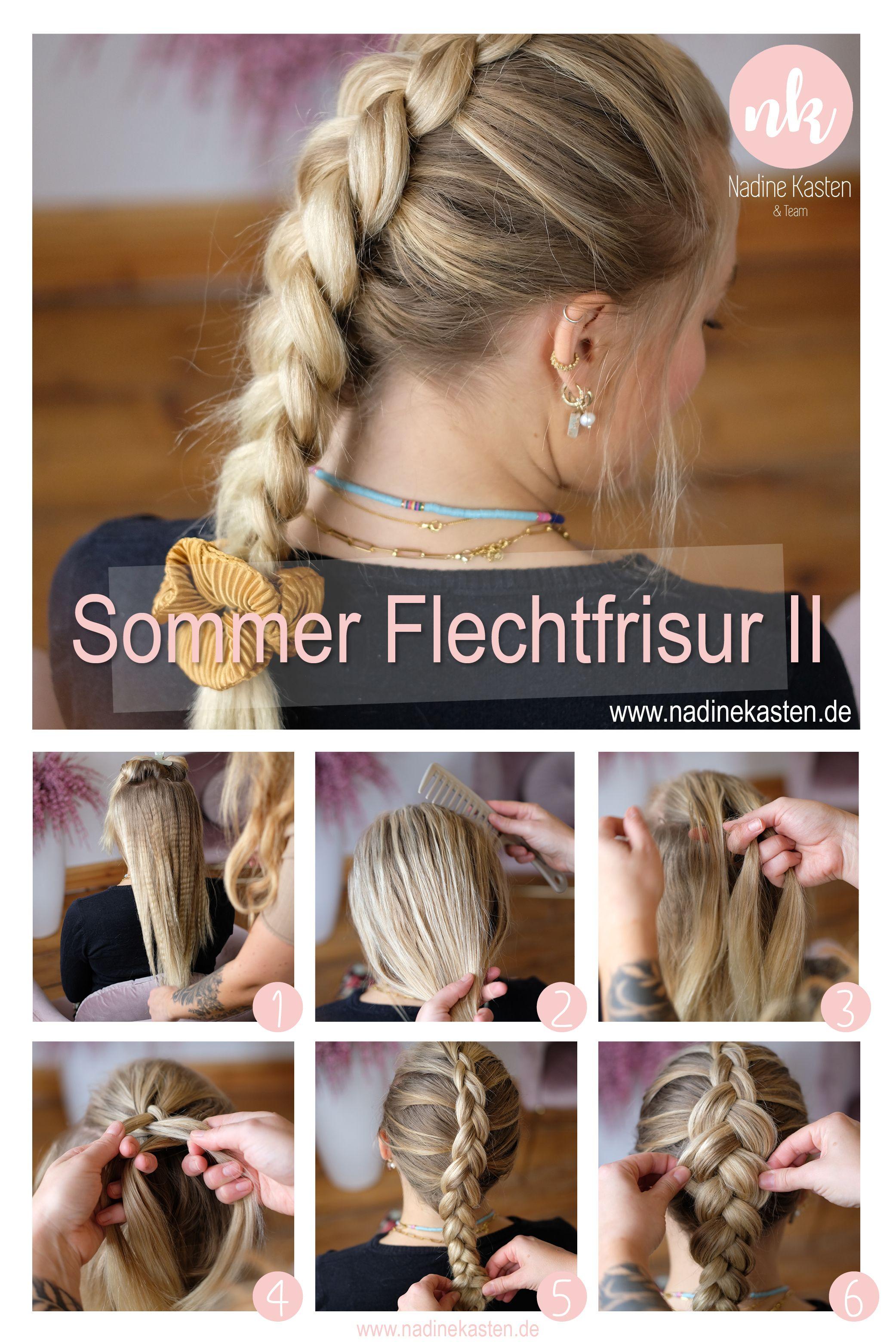 Diy Sommer Flechtfrisur 2 Step By Step Geflochtene Frisuren Flechtfrisuren Haar Styling