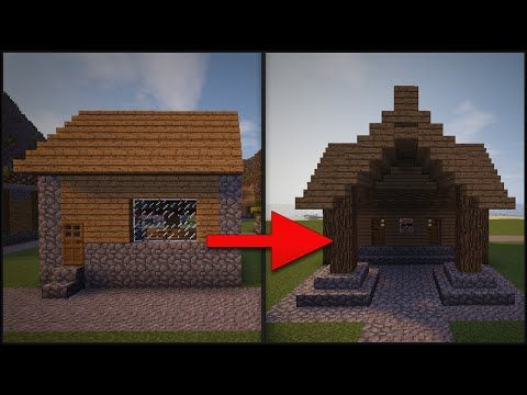 Minecraft: How To Remodel A Village - Part 4 (Library