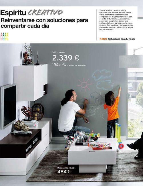 Una pared del salón pintada en nuestro Gris Ratón. http://www.cuartocolor.es/ #paredes #pintura #pizarra #decoracion