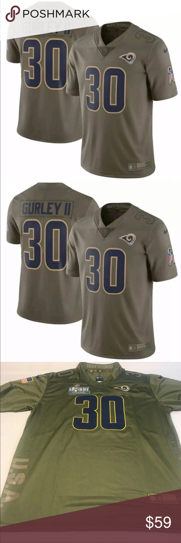 best service 54773 80b69 Todd Gurley Los Angeles Rams salute to service SB Brand new ...
