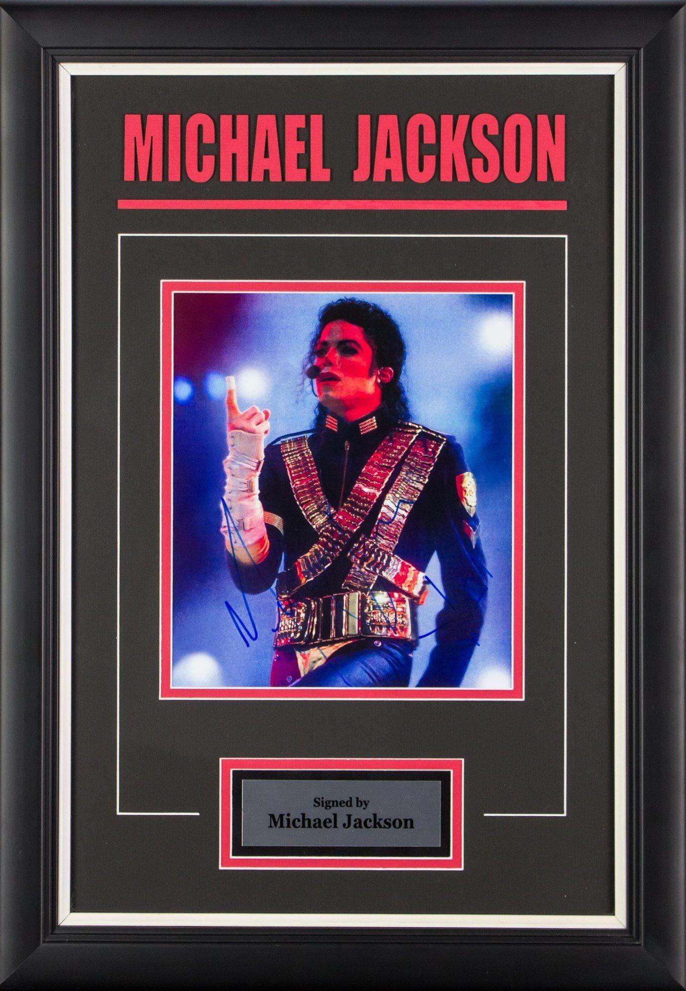 Michael Jackson Signed Concert Photo Custom Framed | Custom framing ...